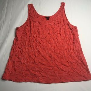Ann Taylor Womens Sleeveless Blouse Embroidered XL